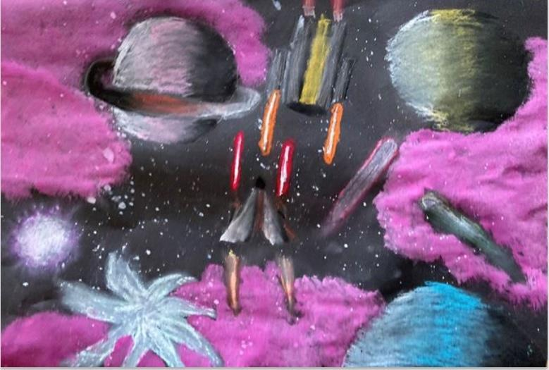 Space wars - Honorable Mention - Grades4-6